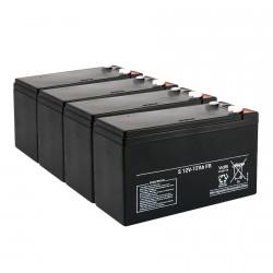 Juego de 4 baterias 12V 12AH para patinete eléctrico 48V