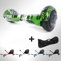Hoverboard i6 Green Grafitti Bluetooth + Hoverkart